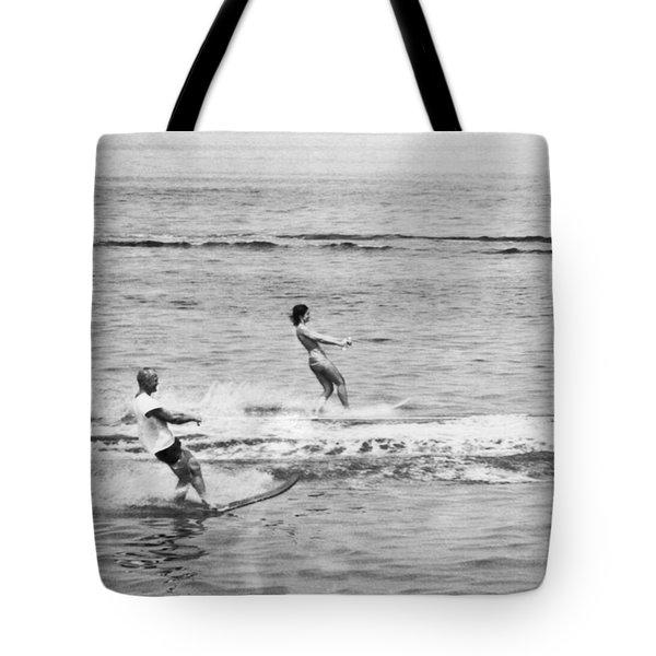 Jackie & John Glenn Water Ski Tote Bag by Underwood Archives