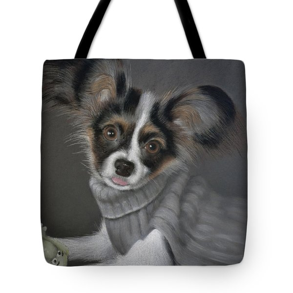 Jackie In His Sweater - Pastel Tote Bag by Ben Kotyuk