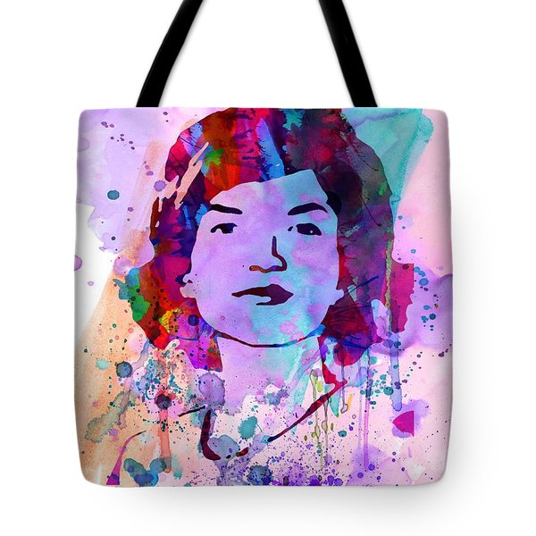 Jackie Kennedy Watercolor Tote Bag