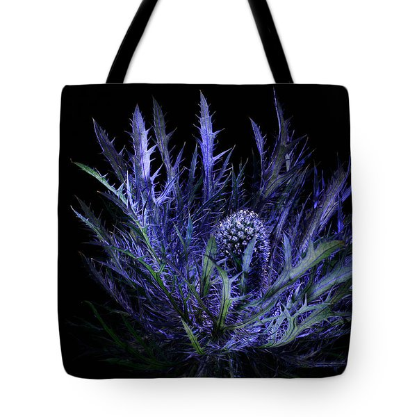 Jackpot Blue Thistle Tote Bag
