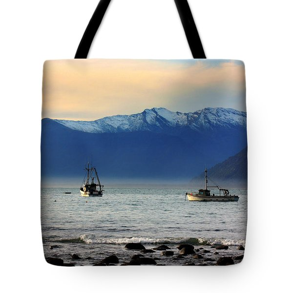 Tote Bag featuring the photograph Jackson Bay South Westland New Zealand by Amanda Stadther