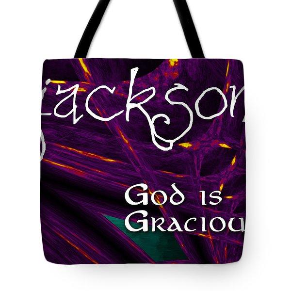Jackson - God Is Gracious Tote Bag by Christopher Gaston