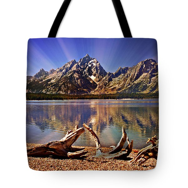 Jackson Lake Mt. Moran Tote Bag by Marty Koch