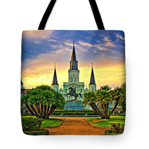 Jackson Square Evening - Paint Tote Bag