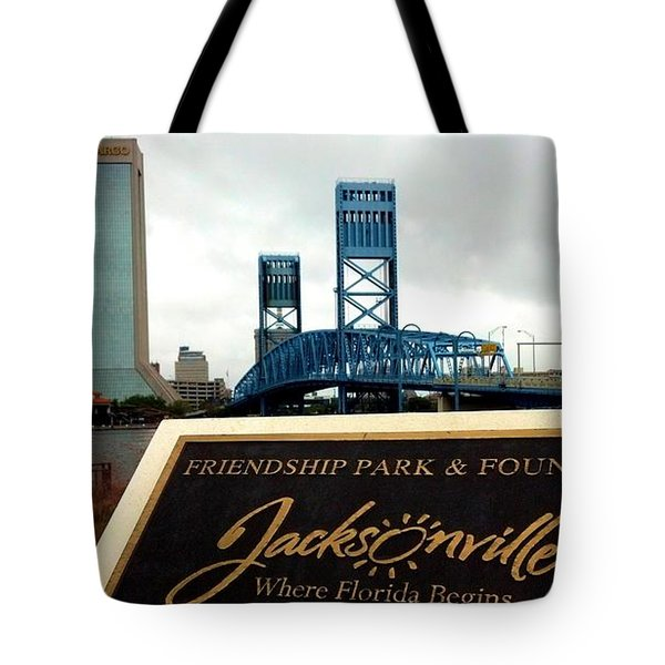 Tote Bag featuring the photograph Jacksonville by Tyson Kinnison