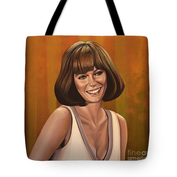 Jacqueline Bisset Painting Tote Bag