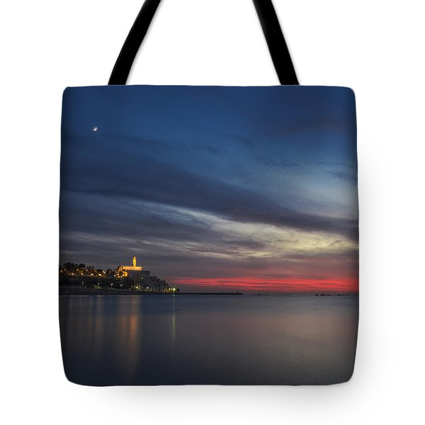 Tote Bag featuring the photograph Jaffa On Ice by Ron Shoshani