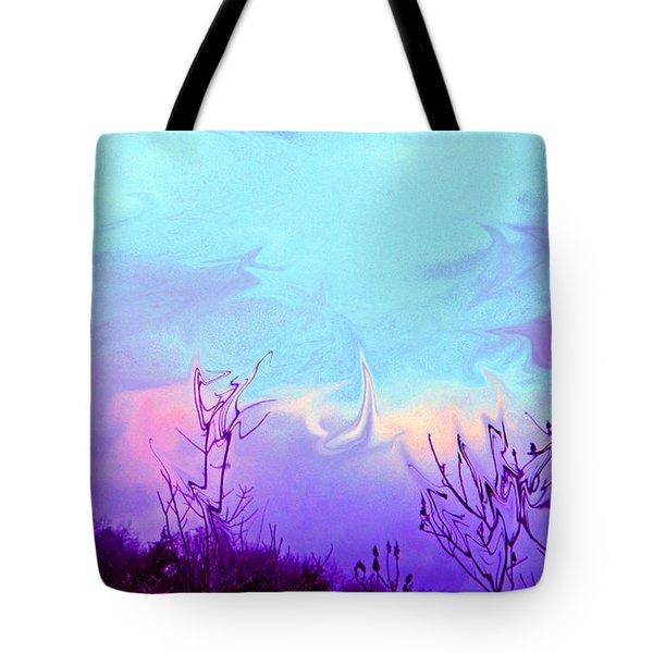 Jagged Sky Tote Bag by Crystal Harman