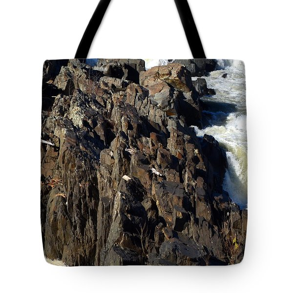 Jagged Waters Tote Bag by Cathy Shiflett