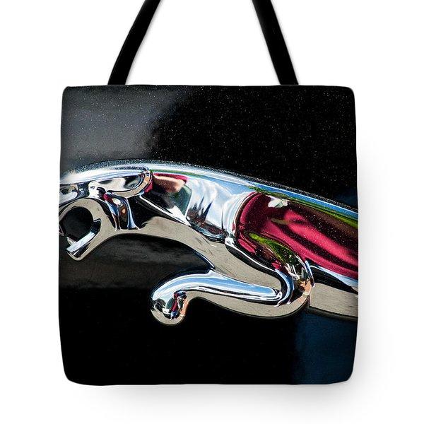 Jaguar Car Emblem Tote Bag