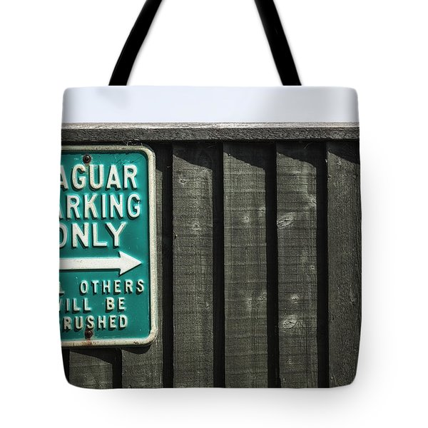 Jaguar Car Park Tote Bag