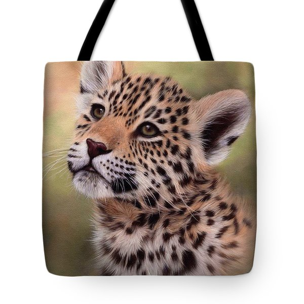 Jaguar Cub Painting Tote Bag