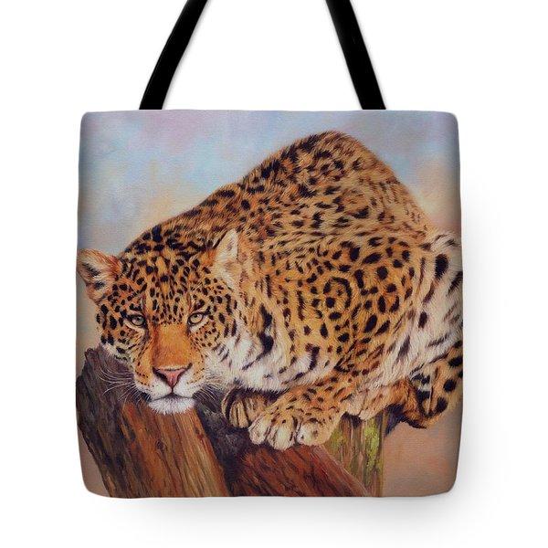 Jaguar Tote Bag by David Stribbling