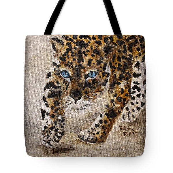 Big Cat Stalk Tote Bag by Barbie Batson