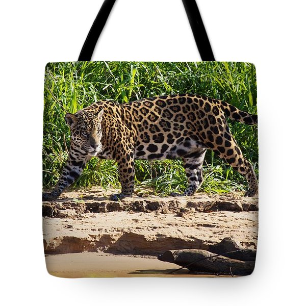 Jaguar River Walk Tote Bag