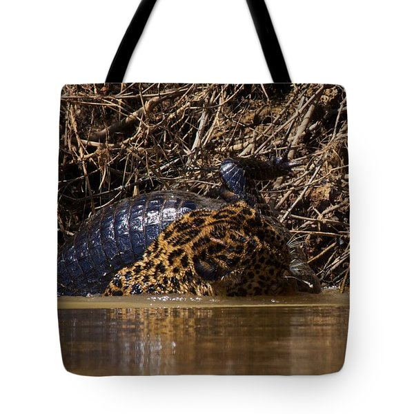 Jaguar Vs Caiman 3 Tote Bag