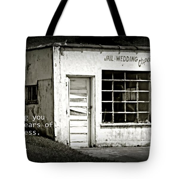 Jail And Wedding Chapel Tote Bag