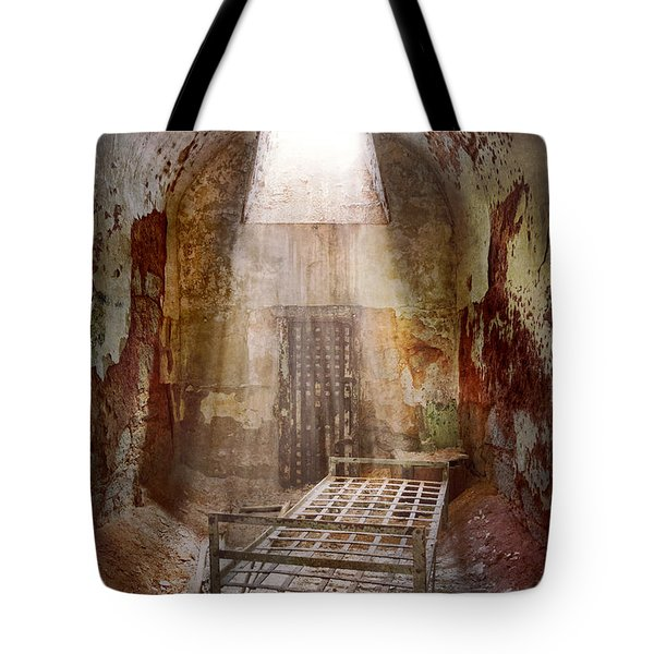 Jail - Eastern State Penitentiary - 50 Years To Life Tote Bag by Mike Savad