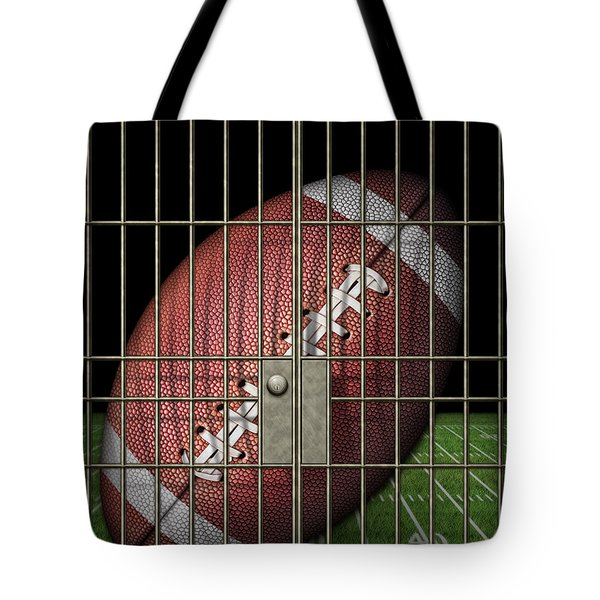 Jailed Football Tote Bag