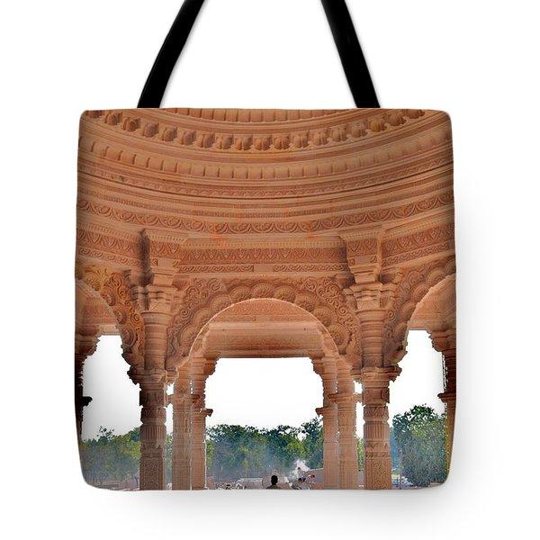 Jain Temple Entrance - Amarkantak India Tote Bag by Kim Bemis