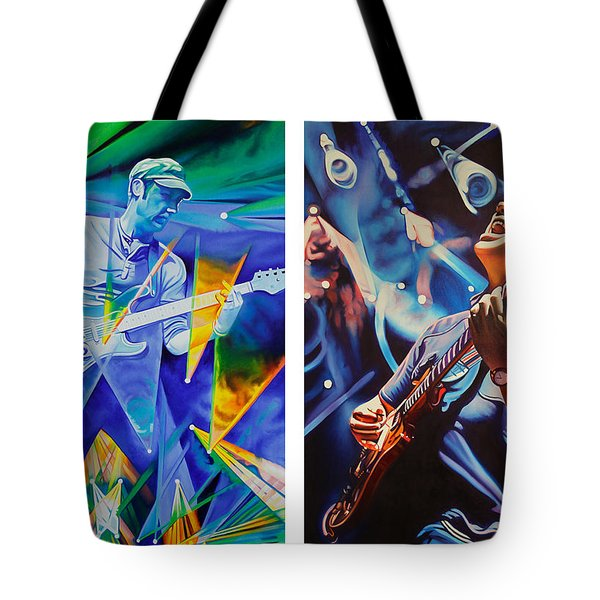 Tote Bag featuring the painting Jake And Brendan by Joshua Morton