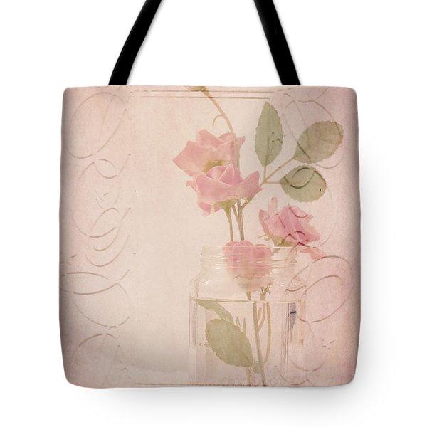 Jam Jar Roses  Tote Bag