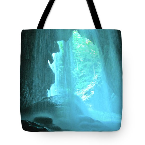 Jamaica Blue Tote Bag by Carey Chen