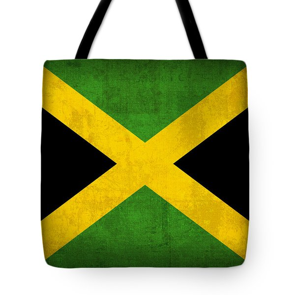 Jamaica Flag Vintage Distressed Finish Tote Bag