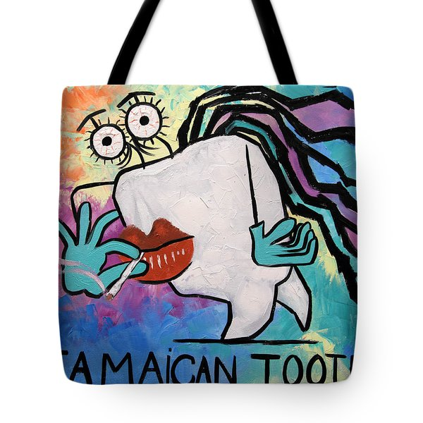 Jamaican Tooth Tote Bag by Anthony Falbo