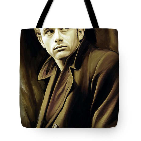 James Dean Artwork Tote Bag by Sheraz A