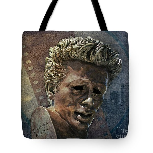 James Dean Tote Bag by Bedros Awak