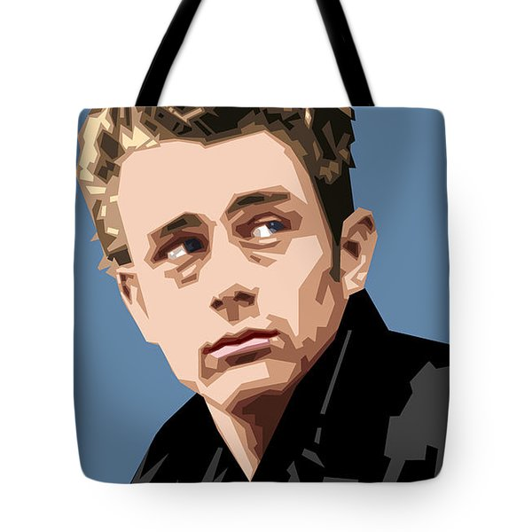 James Dean In Color Tote Bag by Douglas Simonson