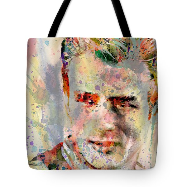 James Dean Tote Bag by Mark Ashkenazi