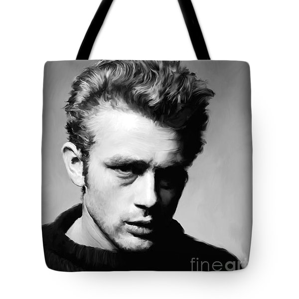James Dean - Portrait Tote Bag by Paul Tagliamonte