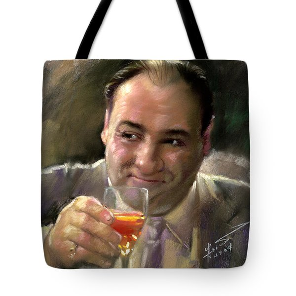 James Gandolfini Tote Bag