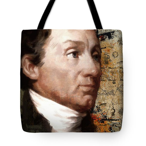 James Monroe Tote Bag by Corporate Art Task Force
