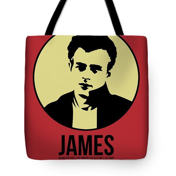 James Poster 2 Tote Bag by Naxart Studio