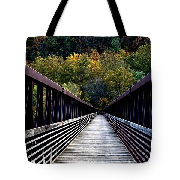 James River Footbridge Tote Bag by Cathy Shiflett