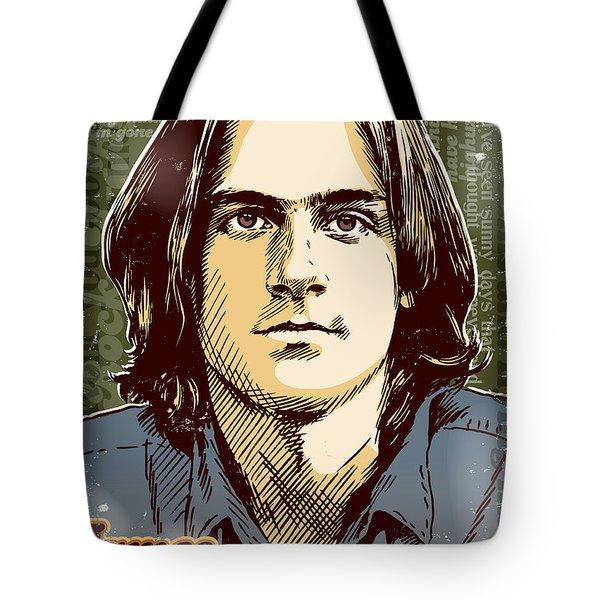 James Taylor Pop Art Tote Bag