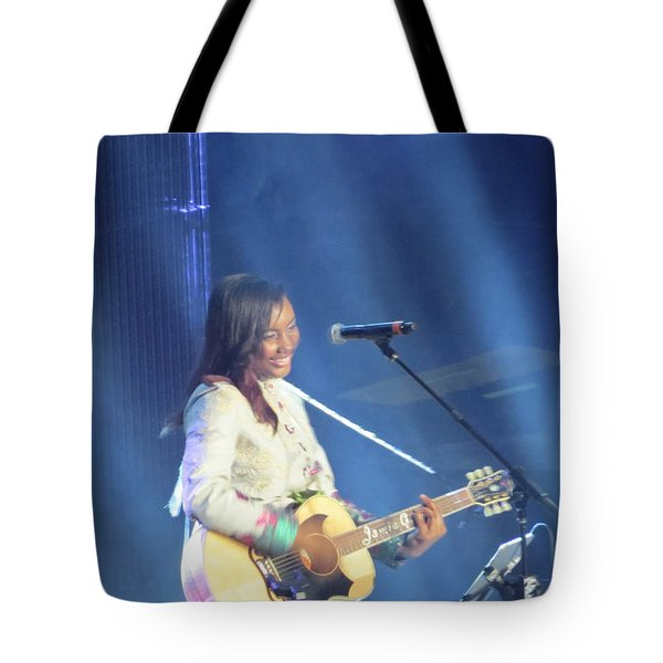 Tote Bag featuring the photograph Jamie Grace by Aaron Martens