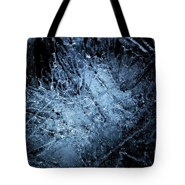 Tote Bag featuring the photograph jammer Frozen Cosmos by First Star Art