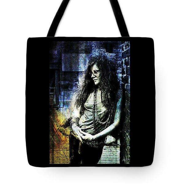 Janis Joplin - Blue Tote Bag