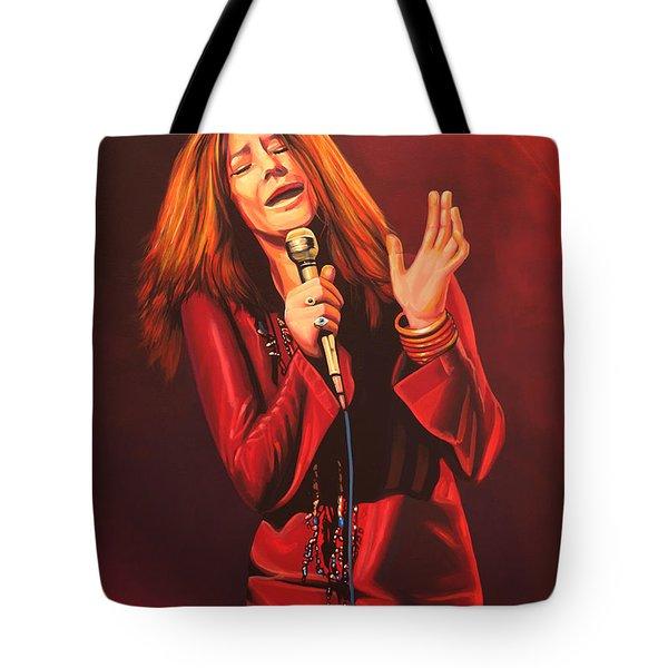 Janis Joplin Painting Tote Bag