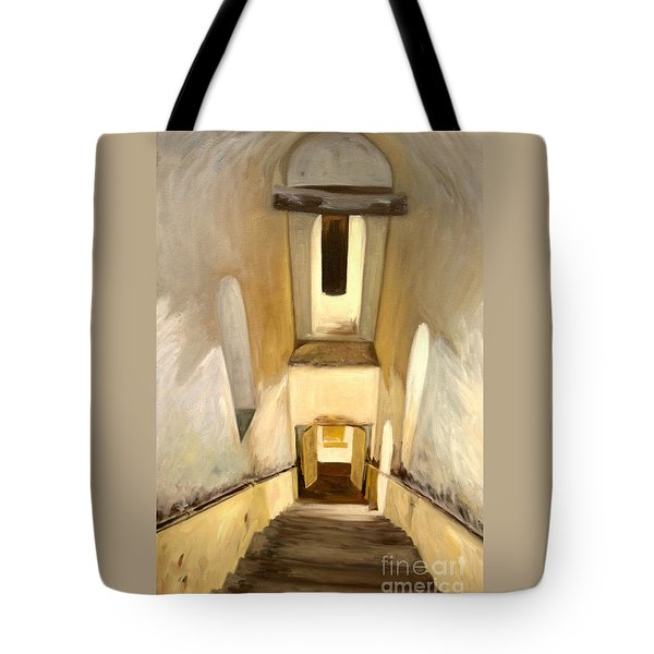 Jantar Mantar Staircase Tote Bag