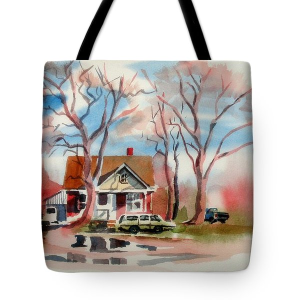 January Afternoon Tote Bag by Kip DeVore
