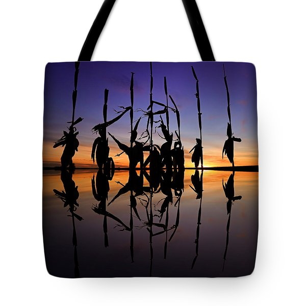 January Cornstalks Tote Bag
