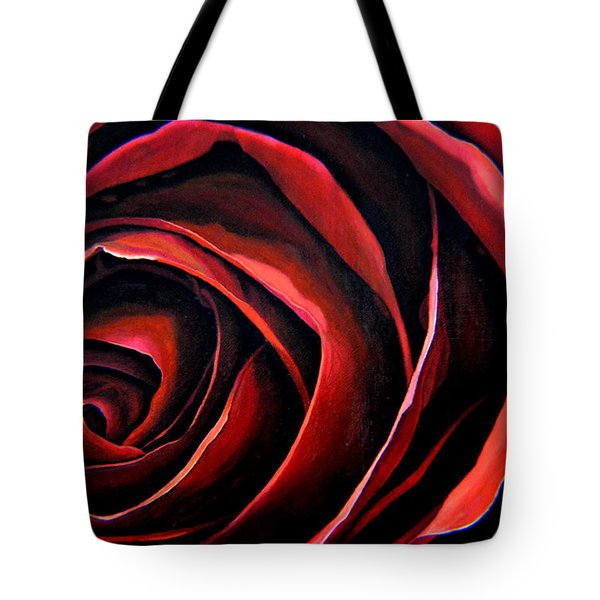 January Rose Tote Bag