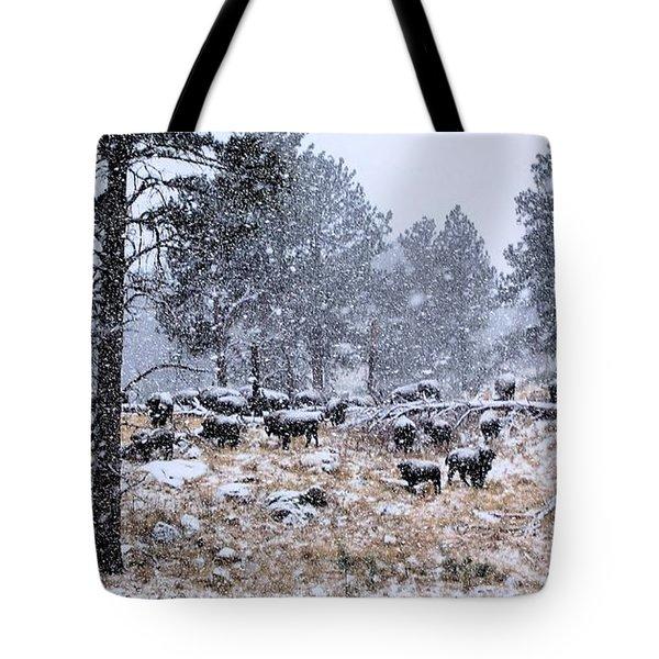 January Snow Tote Bag