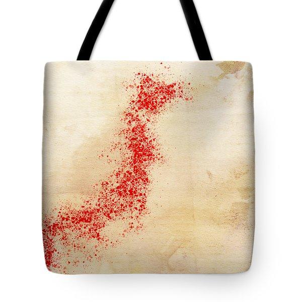 Japan Watercolor Map Tote Bag