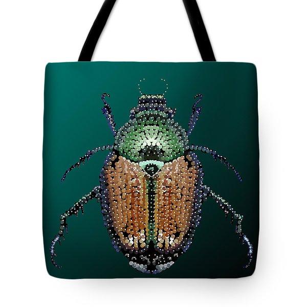 Japanese Beetle Bedazzled II Tote Bag